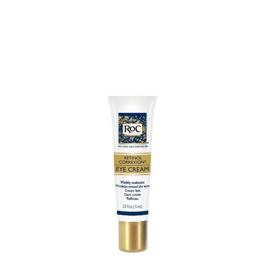 """<p>One of the best eye creams you can find at the drugstore, RoC's eye cream relies on retinol to battle dark circles and puffiness, promising results in a month, while 12 weeks delivers a reduction in crow's-feet and wrinkles.<a href=""""http://www.drugstore.com/roc-retinol-correxion-eye-cream/qxp139555"""">RoC Retinol Correxion Eye Cream</a>,$22.</p>"""