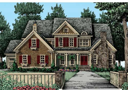 Hazelwood Square - Home Plans and House Plans by Frank Betz Associates