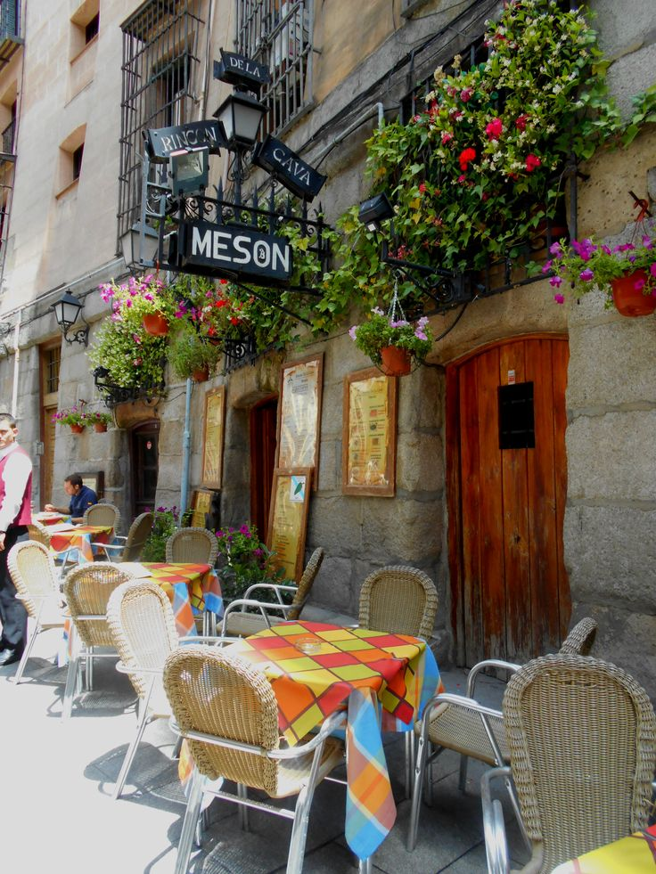 Had lunch at this lovely spot in Madrid, Spain. Great Tapas!