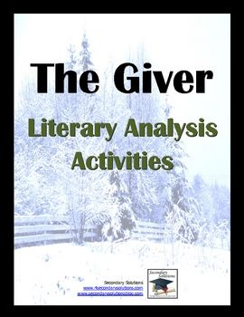 A literary analysis of the book the giver