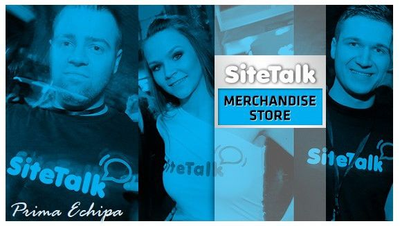 Within the month of September we can expect the launch of the Sitetalk Merchandise Store. Here you will be able to purchase various articles for marketing/promotional purposes that are Sitetalk branded. We will inform everyone of the exact date through a Newsletter and with a Banner of the Sitetalk Merchandising Store on the www.SiteTalk.com/PrimaEchipa.