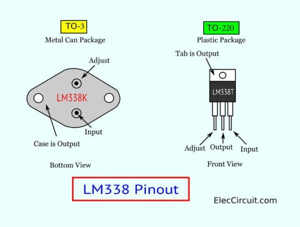 Lm338 Datasheet Adjustable Power Supply 5a And 10a Elec Circuit In 2020 Power Power Supply Circuit