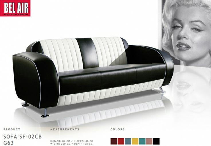 Retro modern 50ies Diner sofa | Fifties retro furniture + wallart +NEON | Design meubels, Retro verlichting & cadeaushop, Space Age new vintage