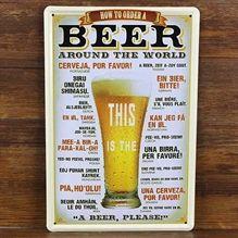 Emaljeskilt Beer around the World - NiceWall.dk