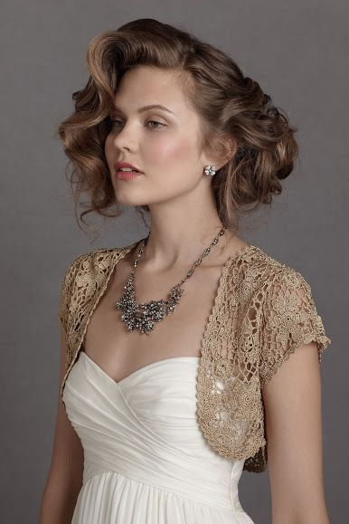 Outstanding Crochet: Crochet Wedding Bolero from Antropology.