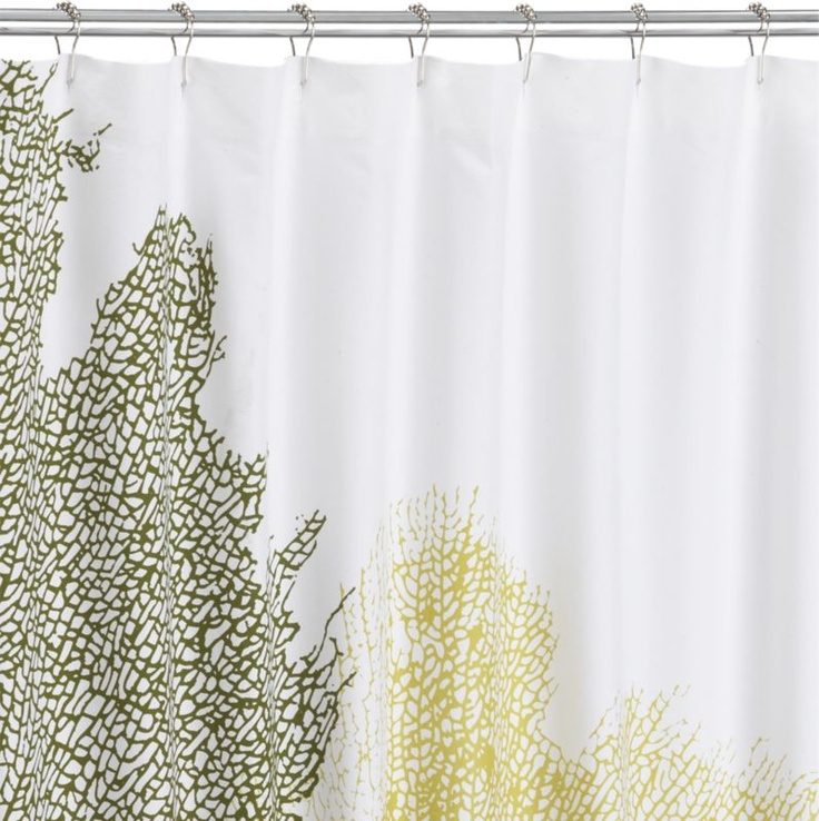 Fan Coral Shower Curtain In Shower Curtains CB2 My Home Pinterest Kor