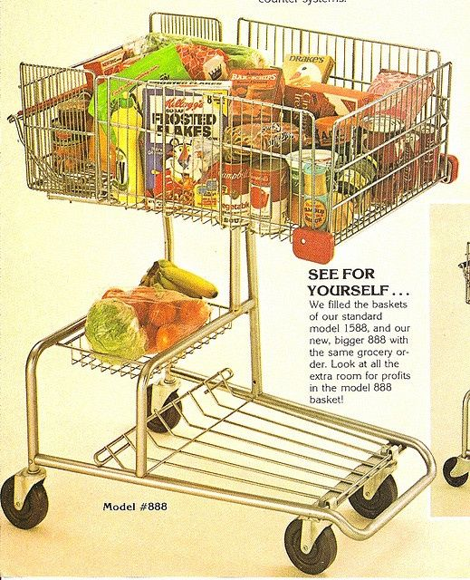 1970's grocery store - We had these carts at the store I worked at in high school.