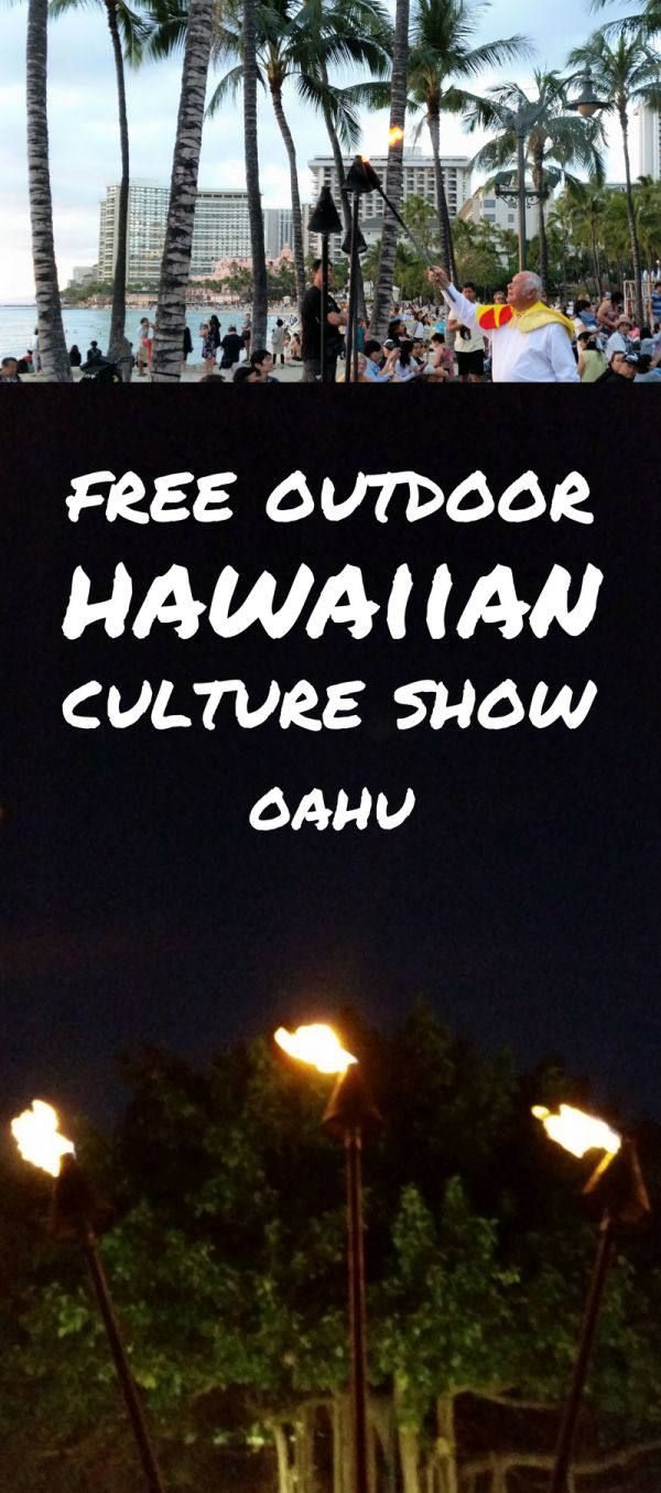 For free things to do on Oahu that gives a taste of Hawaii culture activities, have a look at a torch lighting and hula show on the beach in Waikiki with authentic Hawaiian music and dancers! Taking place in the evening at sunset on the beach, it's the perfect end to a day full of adventure that makes for a family-friendly activity!