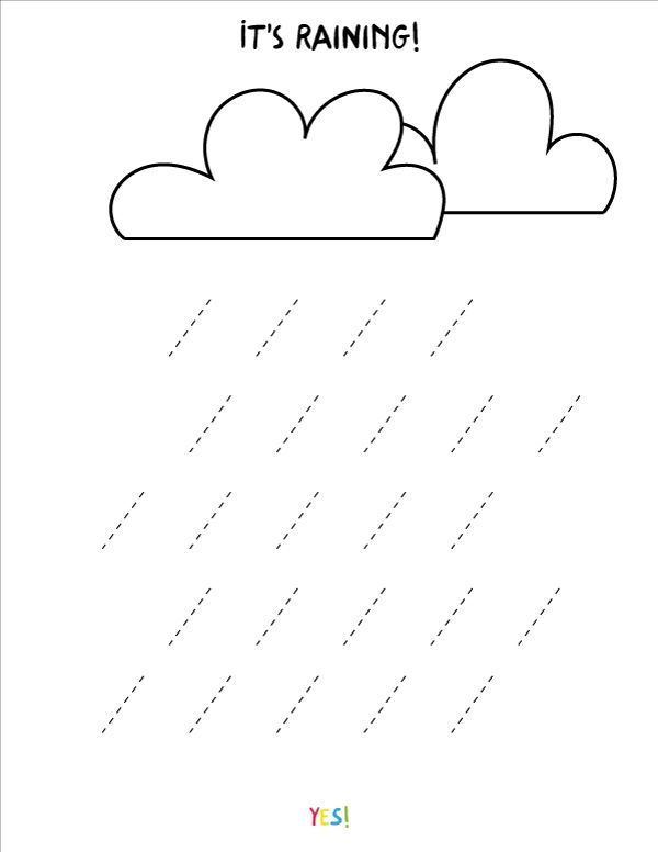 Preschool Line Tracing Worksheets The Weather Line Tracing