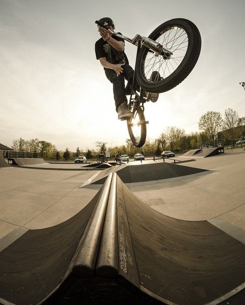 He loves to BMX with his friends on a Saturday afternoon after his part time job.