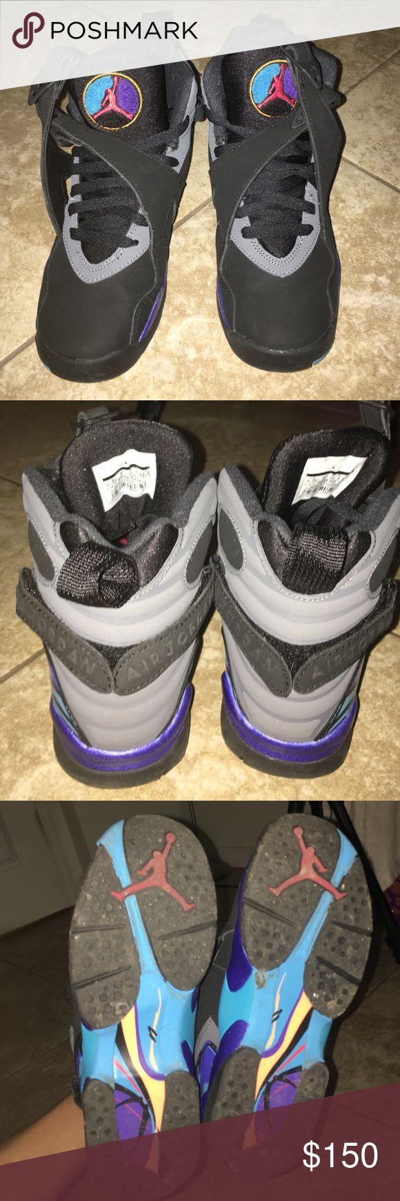 Jordan Aqua 8s. Kids Size 3.5 BRAND NEW BARELY WORN Jordan Aqua 8s. Kids size 3.5  also comes with box. Jordan Shoes