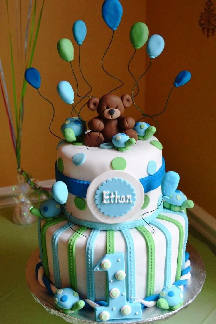First Birthday Baby Cake Boy Ideas Facebook Twitter
