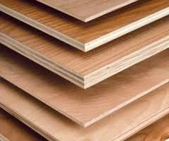 Plywood is made by gluing together multiple thin sheets of wood, with grains at right angles to the previous layers