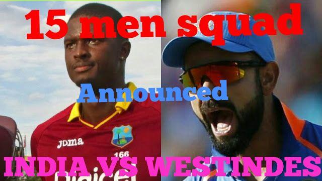 Indian sports Channel: 'bcci announce 15 man squad for west Indies tour'