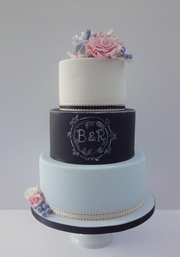 Chalkboard Wedding Cake Ideas