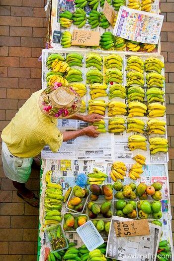 Papeete's market, Tahiti,                                                                                                                                                     Plus