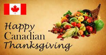In My World . . .: Canadian Thanksgiving . . . How it Began . . .