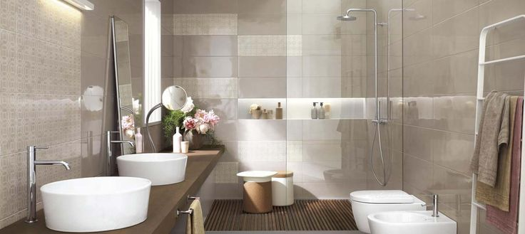 A big shower for this modern #bathroom, an oasis of regeneration and relaxation, built around your daily habits.