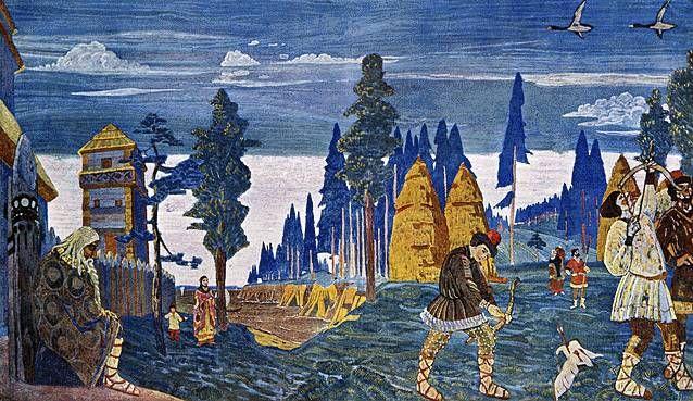 Картина славяне на днепре