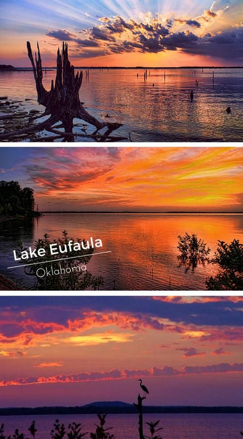 Oklahoma's Lake Eufaula sunsets are some of the most gorgeous in the world! Photos by Carolyn Fletcher.