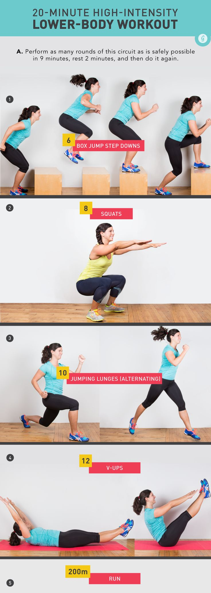Lower Body Workout by Jamie Hagiya http://greatist.com/move/stay-fit-positive-while-injured