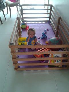 Jorge Streit - Trabalhos em  Madeira: Chiqueirinho para bebê em madeira