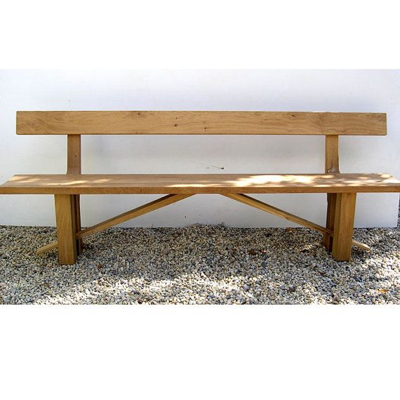 Zen Sustainable Oak Dining Bench With Back By MakersFurniture