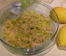 Insalata polpa di granchio e sedano (velocissima!)