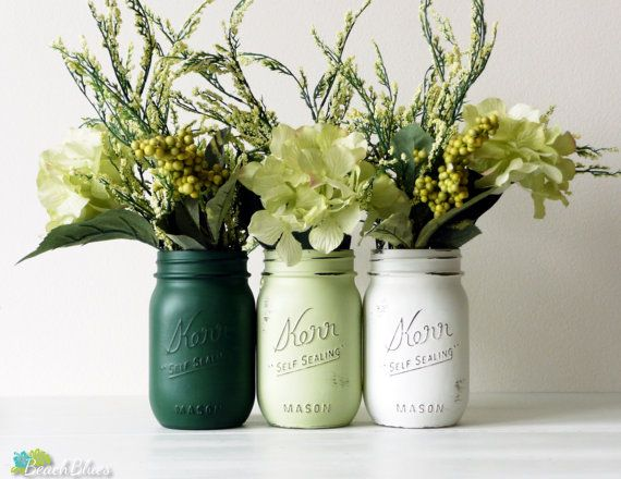 Spring Greens / St. Patrick's Day / Home Decor  by BeachBlues, $21.00