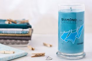 Sunwashed Diamond candle. A ring in every candle! Lemon lavender looks yummy too.