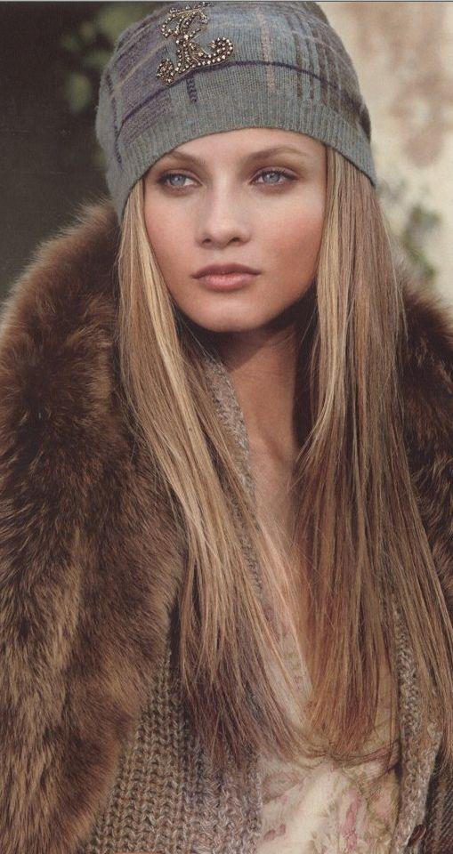 Anna Selezneva for Ralph Lauren, love the hair and makeup