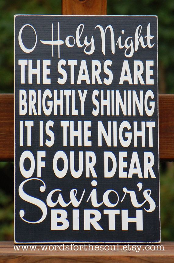 Oh O Holy Night Christmas Christian Sign by WordsForTheSoul