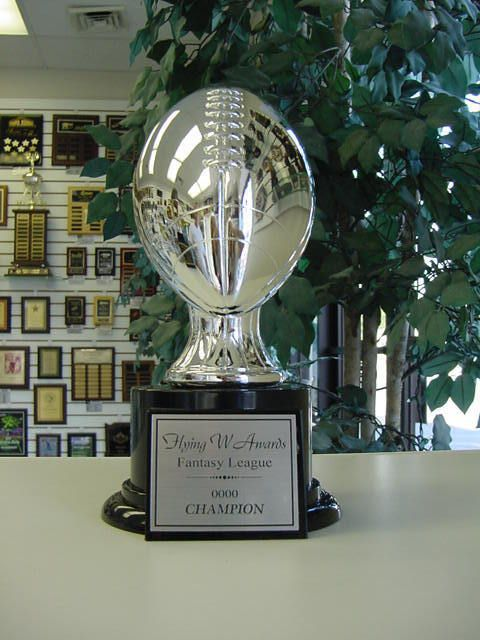 AWESOME FANTASY FOOTBALL TROPHY AWARD SILVER RESIN NEW! #Unbranded