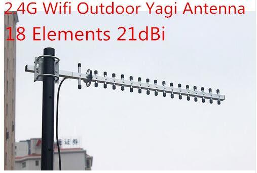 2.4G high gain yagi antenna 21dBi for wifi signal booster wireless 2.4G ap outdoor yagi antenna 18elements