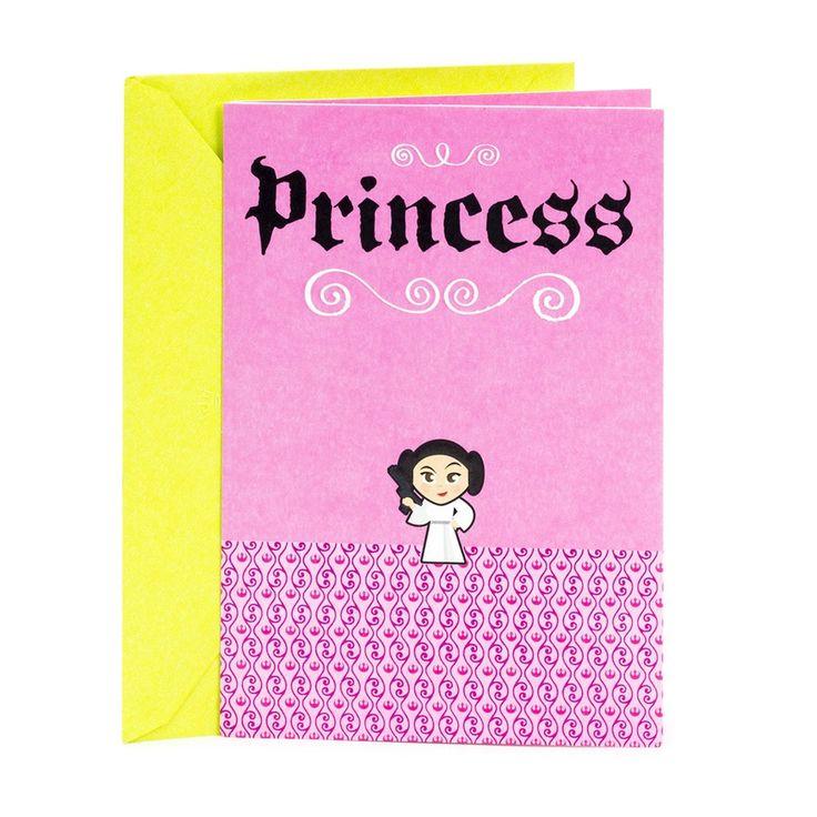 Hallmark birthday star wars princess leia girls greeting