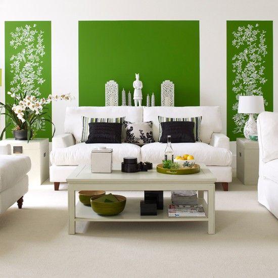 Kelly green + white