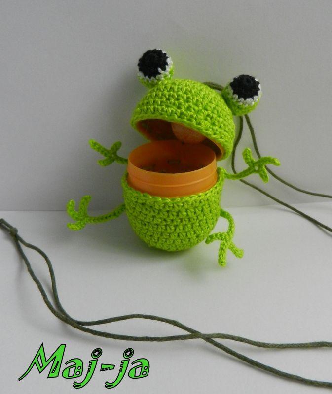 Вязаный лягушонок. цена 400 рублей