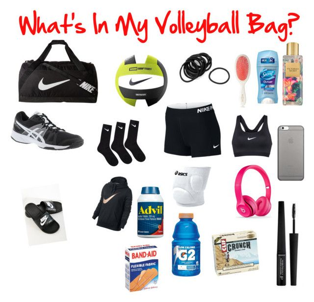 """""""Stuff In My Volleyball Bag♥️"""" by presleyrae5 on Polyvore featuring NIKE, Mason Pearson, Victoria's Secret, Asics, Native Union and e.l.f."""