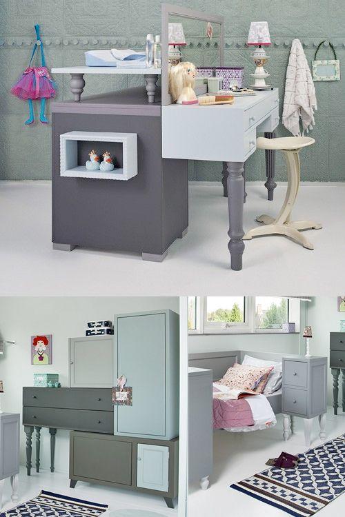Un chambre abracadabrante avec des meubles récupérés.