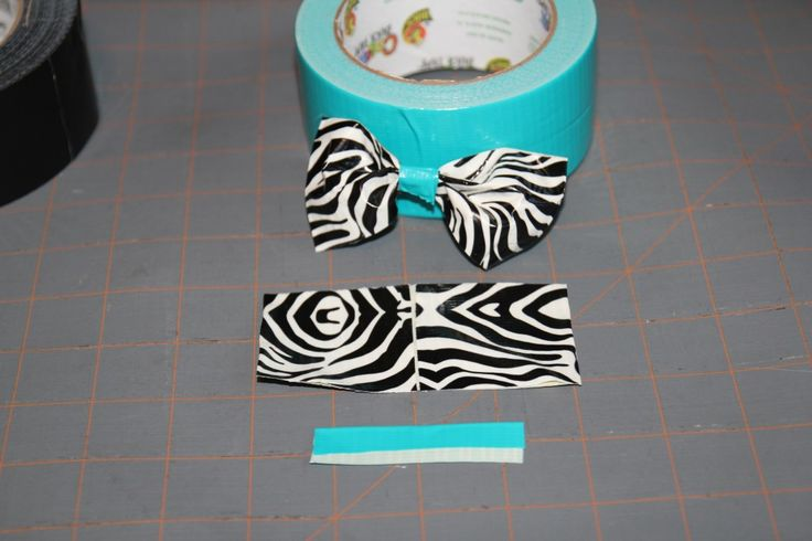 how to make a duct tape bow  now I know what to do with the Hello Kitty Duct Tape I got