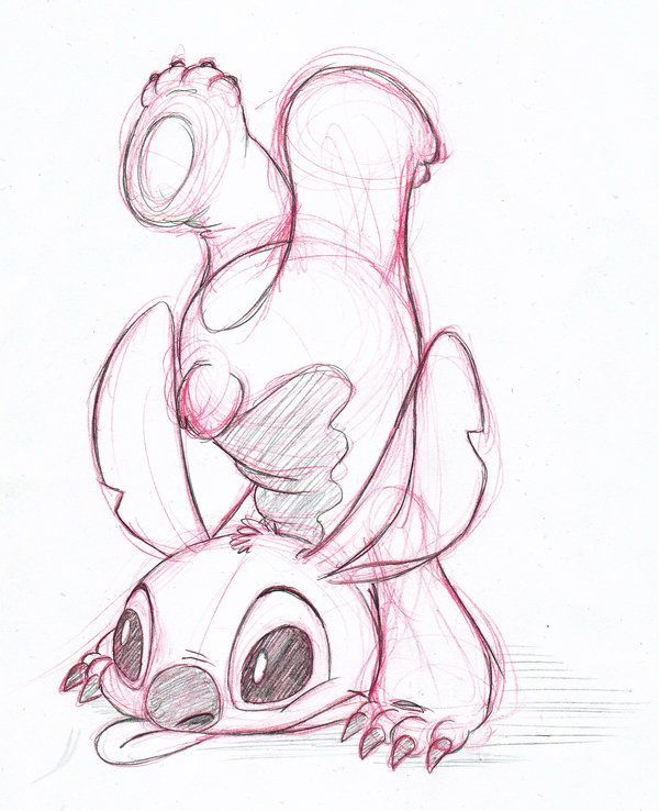 a cute sketch of stitch