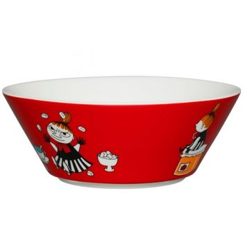 Arabia's Moomin bowl, Little My, red