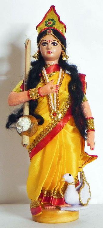Devi Saraswati - Goddess of Music and Knowledge (Cloth))