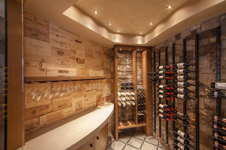 where to get free wine crates Wine Cellar Rustic with ceiling lights glass holder