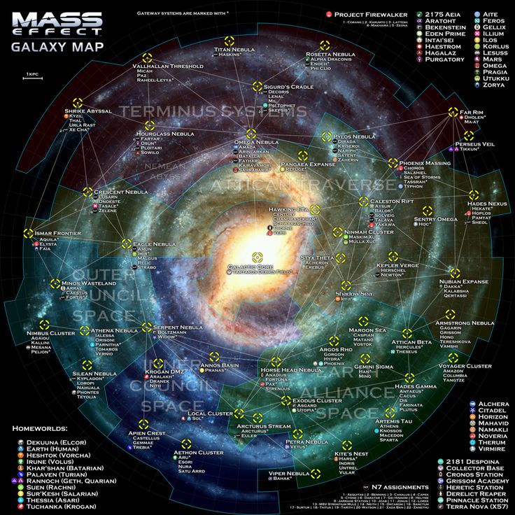 Mass Effect Galaxy Map by otvert.deviantart.com on @deviantART