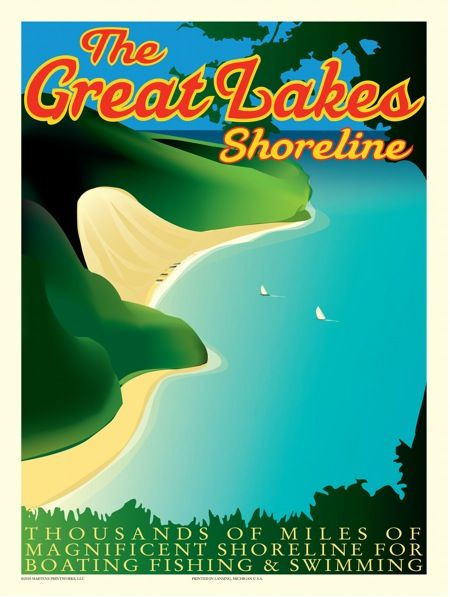 Love these vintage Michigan tourism posters