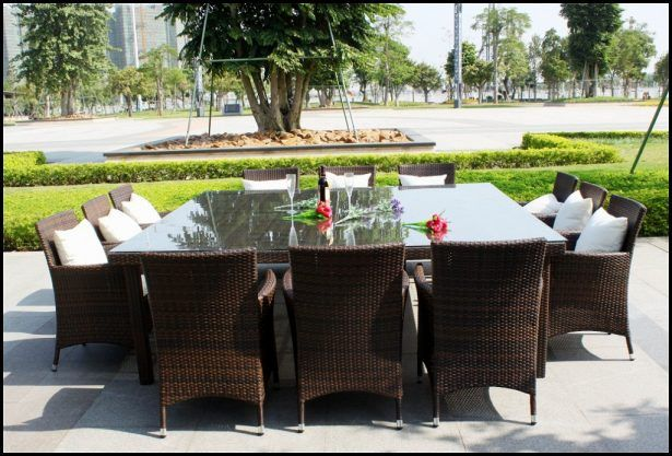 Outdoor Dining Table 12 Seater: Dining Room:12 Seat Outdoor Dining Table 12 Seat Outdoor