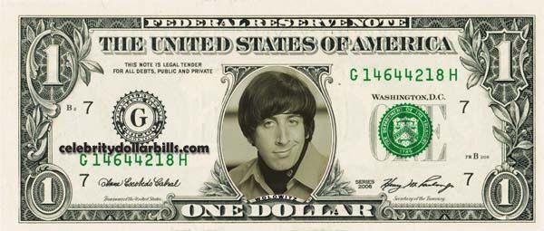 HOWARD WOLOWITZ – Real Dollar Bill Cash Money Collectible Memorabilia Celebrity Novelty Bank Note Dinero