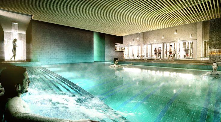 Ankerskogen Spa - Artwork for new Spa & Pool facility in Ankerskogen, Norway. Client: Nuno Arkitekter