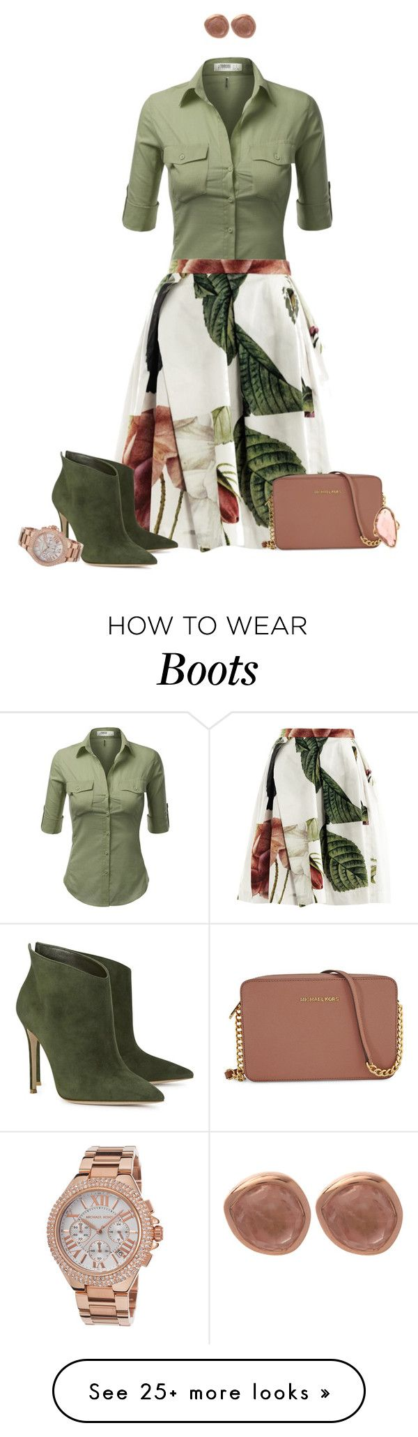 """Ankle boots and a skirt set 2"" by tracy-gowen on Polyvore featuring J.TOMSON, Vivienne Westwood Anglomania, Michael Kors, Gianvito Rossi, Monica Vinader and Mark Broumand"